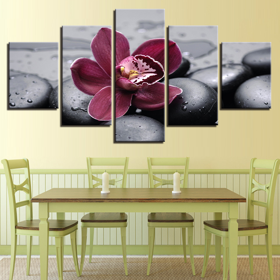 Aliexpress.com : Buy Modern Canvas Pictures Living Room Wall Art 5 ...