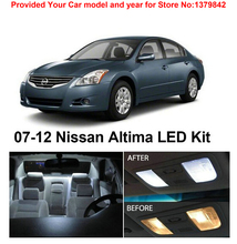 Free Shipping 9Pcs/Lot car-styling Xenon White Package Kit LED Interior Lights For Nissan Altima Coupe 2007-2012(China)