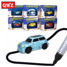 QWZ Vehicles Car Mini Miraculous Children's Inductive Truck Tank Toy Car Pen Draw Lines Induction Rail Track Car For Kids Gift