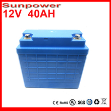 Deep Cycle Rechargeable 12V 40Ah LiFePO4 Battery Pack for Solar Lights, EV, Electric Bicycle Battery