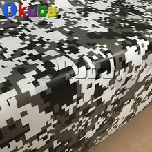 Big Pixel Military Camouflage Pattern Digital Army Camouflage Vinyl Wrap Film Truck Vehicle Camo Decal Film Sheet 1.52X30m/roll