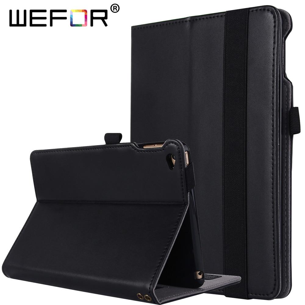 Case For iPad Mini 4 - [Genuine Leather] Multi-Angle Viewing Folio Stand Cover w/ Pocket, Auto Wake / Sleep for iPad Mini4<br>