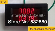 two LED AC Digital multiple power meter panel watt  KWh power factor Voltage current electricity consumption frequency 5A