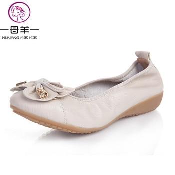 Plus la Taille (35-42) 2016 Chaussures Femme En Cuir Véritable Femmes Chaussures 5 Couleurs Mocassins de Femmes Plat chaussures De Mode Femmes Appartements