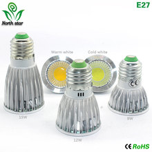 1pcs Super Bright 9W 15W 12W GU10/5.3 E27 E14 MR16 LED Bulb Spot Light Lamp 110V 220V Dimmable Recessed Lighting Warm Cool White