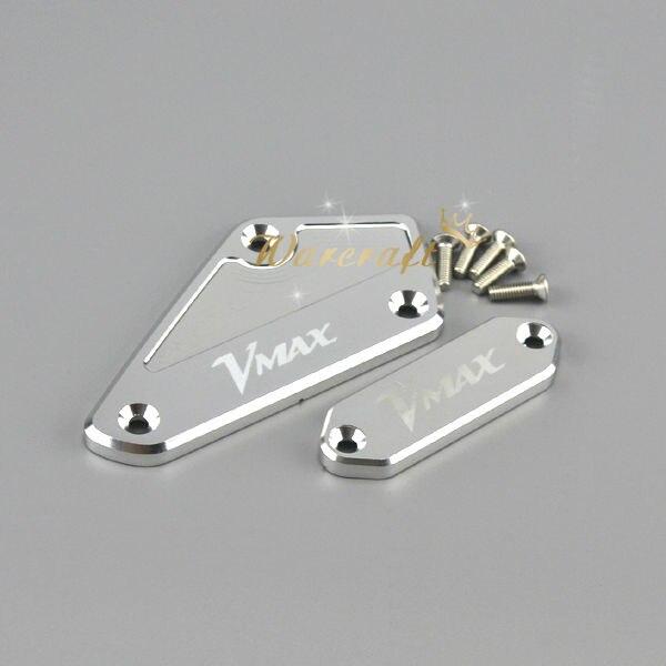 For YAMAHA VMAX 1700 2010-2014 Black CNC Aluminum Front brake clutch Master Cylinder Reservoir Cover Oil Reservoir Cap Silver<br><br>Aliexpress