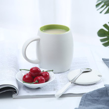1set Afternoon Tea Cup Creative Ceramic Gifts Cup Coffee Mug With Lid Spoon Restaurant Leisure Bar Supplies 6ZDZ115(China)