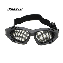 Outdoor Hunting Tactical Paintball Goggles Eyewear Airsoft Net Glasses Shock Resistance Eye Game Protector Paintball Accessory~