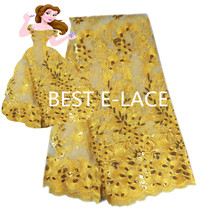 2017 Latest Net French Lace Material High Quality French Net African Lace Fabric With Stone Nigerian Wedding African Lace dress3