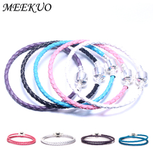 Buy MEEKUO Multicolo Double Braided Chain & Link Bracelets Compatible DIY beads pandora Bracelet Leather charm bracelets women for $1.14 in AliExpress store