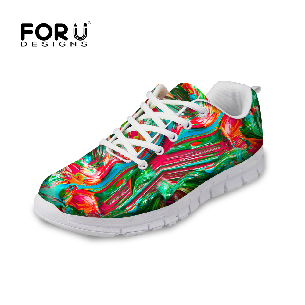 FORUDESIGNS High Quality Men Graffity Painting Printed Casual Shoes Breathable Fashion Male Walking Man Trainers Lace-up Shoes<br><br>Aliexpress