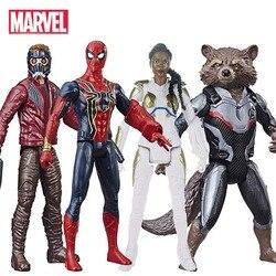 30 см Marvel Мстители эндгейм стражи Галактики Человек-паук Валькирия звезда-Лорд ракета енот фигурка игрушки для детей
