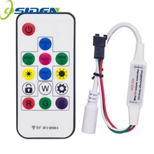OSIDEN DC5-24V 2048Pixels 316 Kinds of Changes Digital RGB LED Strip Controller 14Key RF Wireless Remote for WS2812B WS2811 led