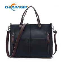 Spring and summer handbags retro handbag double bag design shoulder bag simple leisure quality PU Messenger bag lyz4282