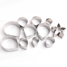 11 pcs/sets Rose petal Leaves Cutting Mold Fondant Print Cookie Cutter Cupcake Baking Mold Kitchen Accessories