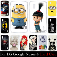 For LG Google Nexus 4 E960 Hard Plastic Mobile Phone Cover Case DIY Color Paitn Cellphone Bag Shell  Shipping Free