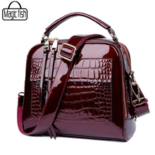 Elegant Patent Leather Women Handbag Women Shoulder Bags Classy High Quality Women Leather Handbags Tote Female Women Bag A197/l(China)