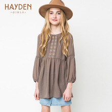 HAYDEN Bohemia teenage girls dress summer sundresses vintage costumes children clothing 8 10 12 years girls clothes fancy frocks