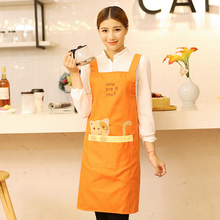 New Arrival Bib Apron Cute Cartoon Sleeveless Waiter Fashion Apron Women Kitchen Cooking Adult Work Clothes Overalls print logo