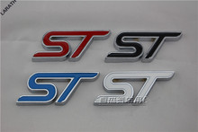 4 Colors White Red Blue Black Full Metal ST Car-styling Stickers Decorations for Exploror Escort Kuga Mustang Fiesta eco sport