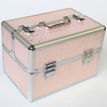 Factory Product Brand Make Up Organizer Case, Pretty Profession Cosmetic Box for Women, Portable Fashion Jewelry Storage Box(China)