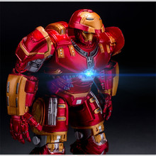 Hot New Movie Avengers 2 18cm Age of Ultron light Iron Man Metal Mark 43 Hulkbuster PVC Action Figure Toys Dolls Gifts TY005