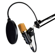 Professional USB Cardioid Condenser Microphone ,3.5mm Audio Studio Vocal Recording Mic Broadcasting Microphone with Mount Stand