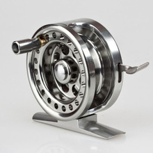 All-metal Machined Aluminum Fly Fishing Reel 60mm 4#/80m Left Right Handed ice fishing reel(China)