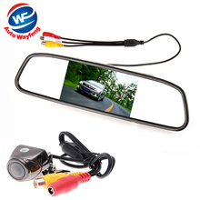 4.3 inch TFT LCD Mirror Car Monitor Auto Parking Assistance System kit 170 Degrees wide angle Reverse Car Rear view Camera(China)