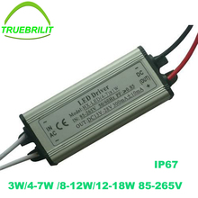 3W-24W 300mA Constant Current LED Driver 3W 4W 5W 7W 9W 12W 15W 18W Led Power Supply for Led lights Downlights Waterproof IP65(China)