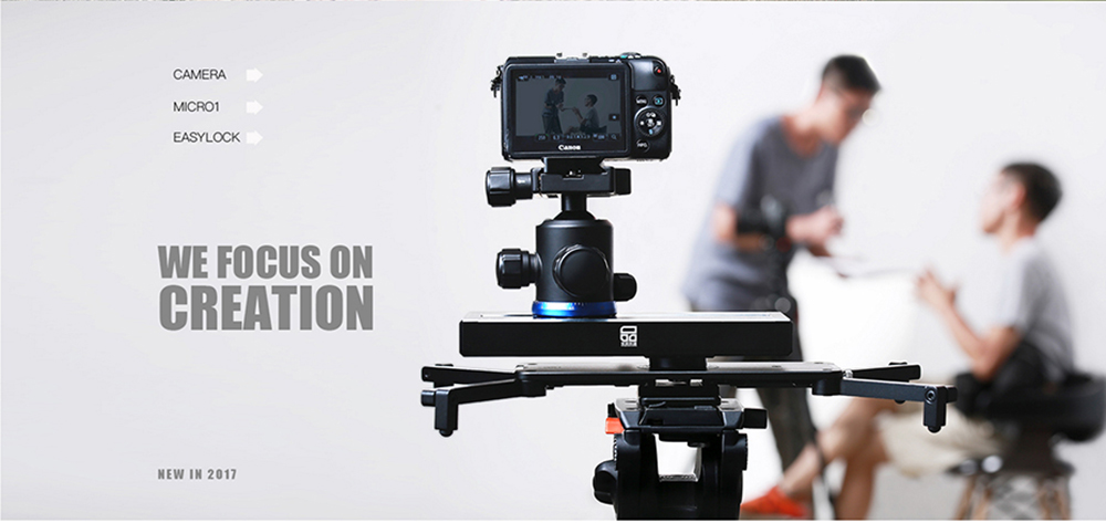 Portable Micro 2 Professional Camera Video Slider Travel Track Slider Dolly Track Rail for DSLR ARRI Mini RED BMCC  Iphone X  21
