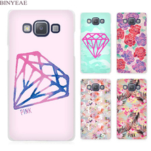 BINYEAE Diamonds Pink Clear Transparent Cell Phone Case Cover for Samsung Galaxy A3 A5 A7 A8 A9 2016 2017(China)