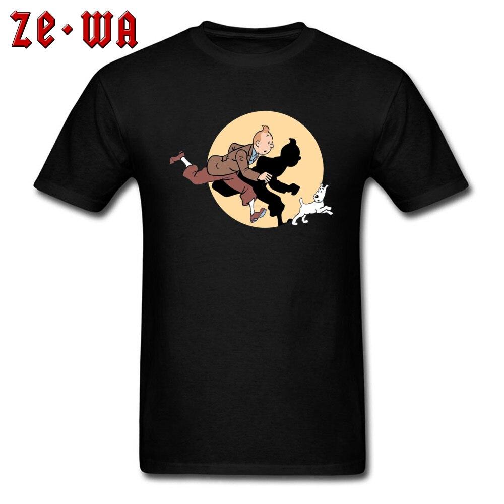 TIN TIN THE MOVIE -103 Fashionable Mens T-Shirt Round Collar Short Sleeve Cotton Fabric Tops Tees Custom Sweatshirts TIN TIN THE MOVIE -103 black