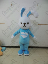 blue cute bunny mascot costumes stand ear bugs bunny costumes rabbit costumes