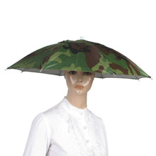 Outdoor Sport Umbrella Hat Cap Fishing Hiking Beach Camping Headwear Cap Head Hats Camouflage Foldable Sun Umbrellas