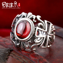 Beier 925 silver sterling jewelry 2015 high quality new hot sale single Zircon ring man and women gift D1190(China)