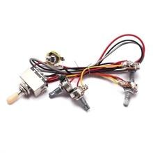 popular toggle switch wiring buy cheap toggle switch wiring lots1set wiring harness 3 way toggle switch 2v2t 500k pots \u0026 jack les paul lp guitar aug24 drop ship