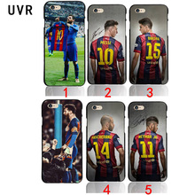UVR for Barcelona Lionel Messi Bar FOOTBALL Case for iPhone 5 5S se 6 6S 7 7 Plus 8 8plus x black Neymar JR cover(China)