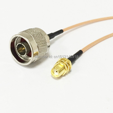 "New SMA Female Jack To N Male Plug Connector RG316 Coaxial Cable Pigtail 15CM 6"" Adapter"