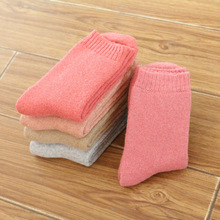 2017 Thick Rabbit Wool Socks Women Winter Thermal Warm Socks Female Fashion Casual Colorful Thick Towel In Tube Socks for Ladies(China)