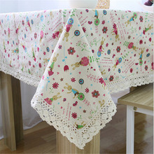 Linen tablecloths wholesale bunnies series Korean multi-purpose cloth dust cover cloth