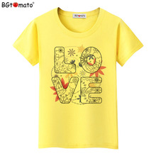 BGtomato Factory store original brand good quality clothes love printing summer T-shirts wholesale tops drop shipping 455