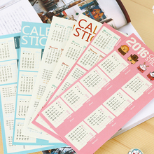 New 2Sheets Arrival Calendar Sticker Diary Planner Notebook Journal Tag Bookmark For Scrapbooking