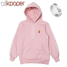 ALLKPOPER Kpop BTS JIN Cap Hoodie Sweatershirt Bangtan Boys Pink Color Pullover EXID HANI Sweatshirts bts Gift (Jin Finger Ring)(China)