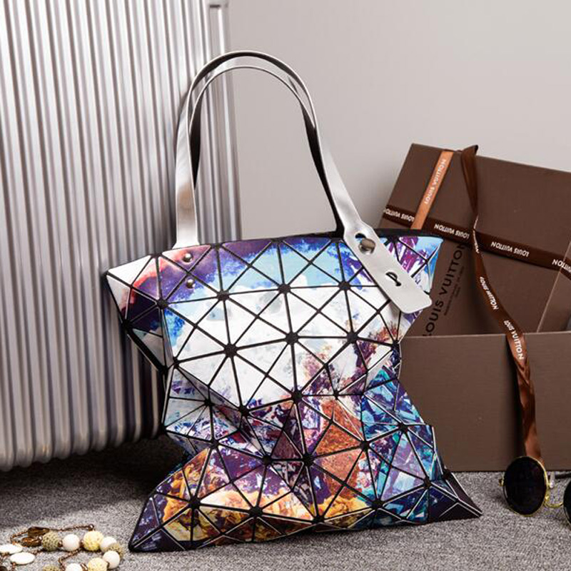 New fashion Lady dazzle Geometry bag Sequins  Plain Shoulder Bags gorgeous Large Top Handle Tote<br><br>Aliexpress