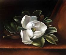 Beautiful Flower Painting for Kitchen The Magnolia Blossom, 1888 by Martin Johnson Heade Canvas Art Painting Still Life