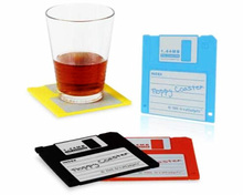 Silicone Floppy Disk Cup Mat Coasters Drink Coasters Home Decor Bar Accessory