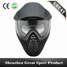 Tactical Airsoft Paintball Mask Anti Fog DYE I4 Thermal Lenses with Visor & Double Straps(China)