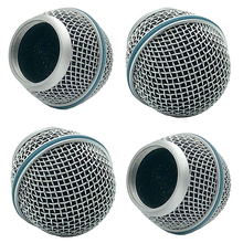 4 PCS Wireless Microphone fit shure BETA58 Head Grille Mesh