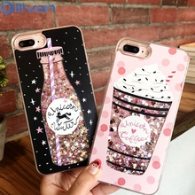 Buy OLLIVAN Drink Bottle Quicksand Phone Cases iPhone 7 7 Plus 6 6S Plus Ice Cream Heart Glitter Star Dynamic Liquid Back Cover for $2.76 in AliExpress store